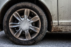 Muddy wheel Stock Images