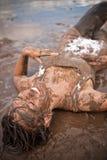Muddy woman Royalty Free Stock Photos