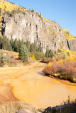 Muddy yellow river in Colorado Royalty Free Stock Image