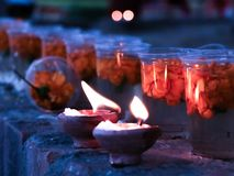 Mude candle used by hindu people for worship royalty free stock image