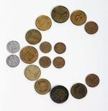 Mude de Kroon ao euro em Estónia Fotos de Stock