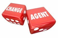 Mude o agente que Roll Dice Disrupt se adapta inova Fotografia de Stock