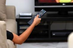 Mude o canal de televisão Fotos de Stock