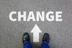 Mude o trabalho em mudança do trabalho seu conceito do negócio das mudanças da vida Imagem de Stock