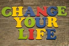 Mude seu conceito da vida Imagens de Stock