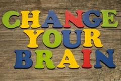 Mude seu conceito do cérebro Fotos de Stock Royalty Free