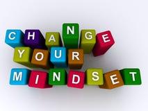 Mude seu mindset ilustração stock