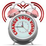 Mude sua visão O despertador com uma inscrição ilustração royalty free