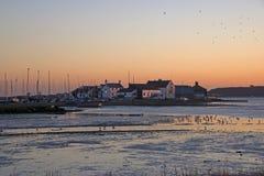 Mudeford Quay au coucher du soleil Image libre de droits