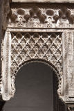Mudejar arch from the Royal Alcazar of Sevilla Royalty Free Stock Photography