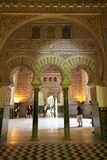 Mudejar arches from the Royal Alcazar of Sevilla Royalty Free Stock Image