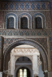 Mudejar arches from the Royal Alcazar of Sevilla Royalty Free Stock Images