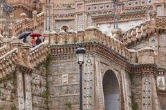 Mudejar art. De Spaanse erfenis van het architectuuroriëntatiepunt trap royalty-vrije stock afbeeldingen