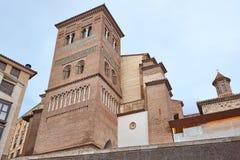 Mudejar art. De toren van San Pedro Teruel De erfenis van Spanje Architectu royalty-vrije stock foto's