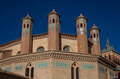 Mudejar art in Teruel. San Pedro church, Spain heritage landmark Royalty Free Stock Photography