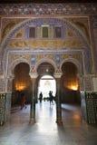Mudejar Bögen vom königlichen Alcazar von Sevilla Lizenzfreie Stockfotos