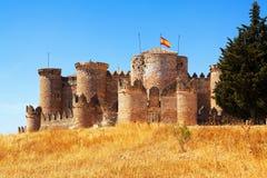 Mudejar castle in Belmonte. Cuenca, Spain Royalty Free Stock Photo