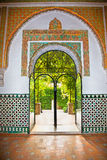 Mudejar decorations in the Alcazars of Seville, Spain. Stock Image