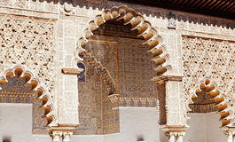 Mudejar decorations in the Patio Royalty Free Stock Images