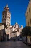 Mudejar domkyrka av Santa Maria de Mediavilla 13th århundrade, T Arkivfoto
