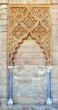Mudejar Fassade des Palastes von Peter 1, Alcazar königlich in Sevilla, Spanien Lizenzfreies Stockbild