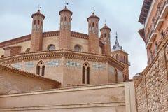 Mudejar konst i Teruel San Pedro absid Spanien arv fotografering för bildbyråer