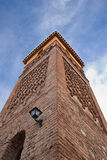 Mudejar minaret Stock Image