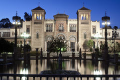 Mudejar pavilion. Of parque de Maria Luisa in Seville Stock Photography