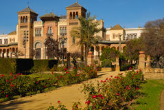 Mudejar pavilion. Mudejar Pavillion built for the Ibero-American Exposition of 1929 at Seville, Spain Stock Image