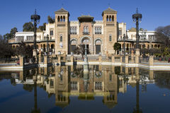 Mudejar Pavilion. The Mudejar Pavilion in the Maria Luisa Park of Seville, built by Anibal Gonzalez for the Ibero-American Exposition of 1929 Royalty Free Stock Photos