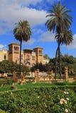 Mudejar Pavilion, Maria Luisa Park. Seville, Andalusia, Spain. Stock Photo