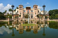 Mudejar Pavilion in Seville Spain Stock Image