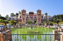 Mudejar pavilion, Seville, Spain stock photos