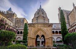 Mudejar przyklasztorny Guadalupe monaster, Środkowy budynek Obraz Stock