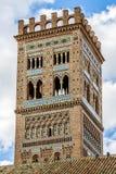 Mudejar torn av kyrkan av El Salvador, Teruel arkivbilder