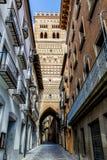 Mudejar tower of the Church of El Salvador, Teruel Royalty Free Stock Photo