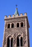 Mudejar tower of Zaragoza Stock Image