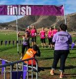 2014 Muderrella Mud Race Finish Line Stock Photography