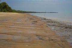 Mudflats Cayenne River Estuary, French Guiana stock image