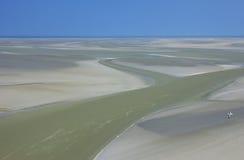 Mudflat at low tide royalty-vrije stock fotografie