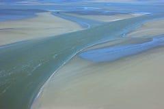 Mudflat at low tide royalty-vrije stock afbeeldingen