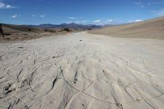 Mudflats in het Nationale Park van de Doodsvallei royalty-vrije stock fotografie