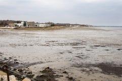 Mudflats in Plymouth-Hafen lizenzfreie stockfotografie