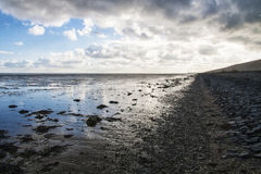 Mudflats in the Waddenzee at Texel, Netherlands Stock Image