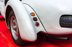 Mudguard. Left rear fender of an old sports car Royalty Free Stock Photos