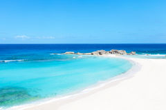 Perfect caribbean beach. Mudjin harbor, perfect empty beach at middle caicos island Stock Images