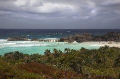 Mudjin Schronienie, Środkowy Caicos zdjęcia stock