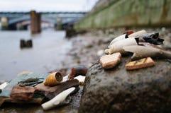 Mudlark rön på Themsen arkivfoto