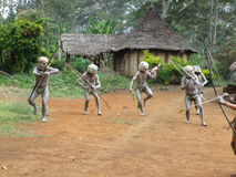 Mudmen Papua Stock Photos
