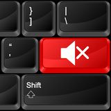 Mudo do botão do computador Imagens de Stock Royalty Free